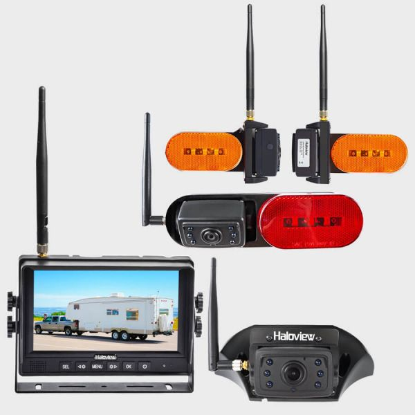Haloview MC7109R Ultimate 7 Inch 720P HD Digital Wireless 4-Camera System