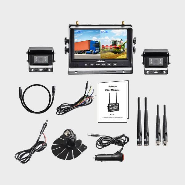 Haloview MC7101-2 7 Inch digital wireless backup camera system with 2 cameras