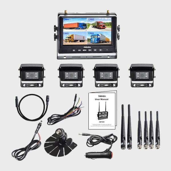 Haloview MC7101-4 7 Inch Digital Wireless Rear View Camera System with 4 cameras