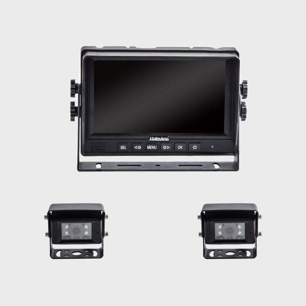 Haloview MC7601-2 7 Inch Wired Rear View System with 2 cameras
