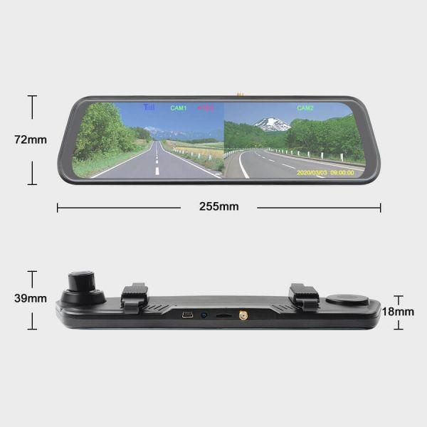 Haloview Wireless Rearview Observation Mirror Dashcam MC10