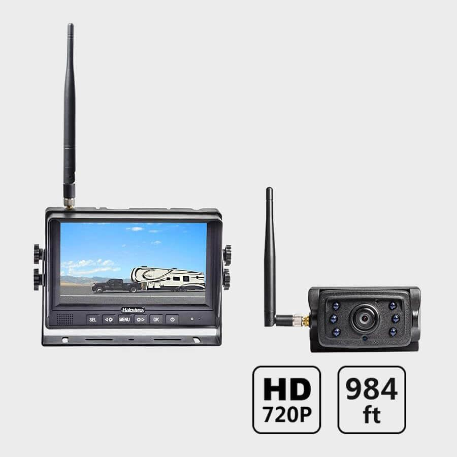 Haloview CA109 Wireless 720P High Definition License Plate Rear View Camera Hitch Camera for MC7108//MC5111