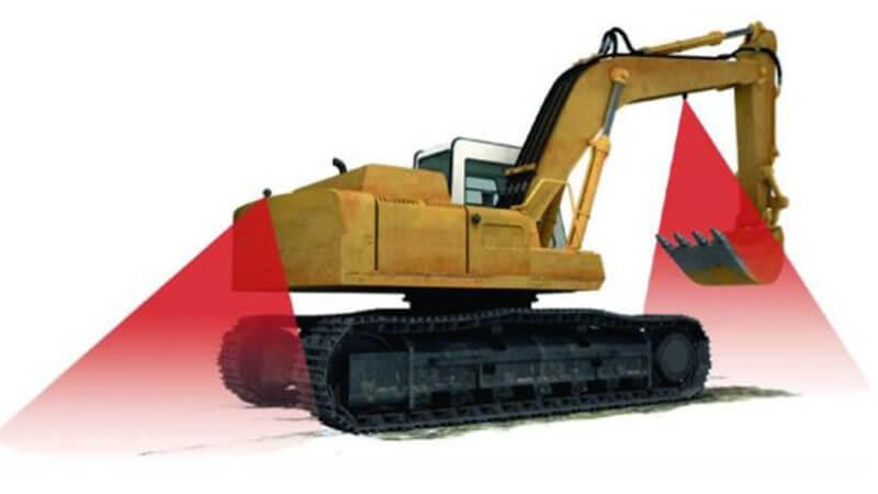 Excavator blind zone