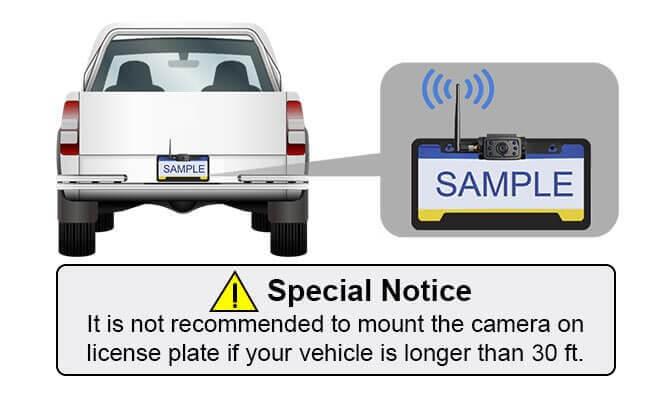 CA109 license plate mounting bracket