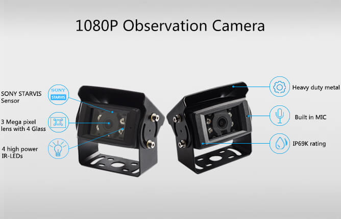hd digital wireless rear view IP69K waterproof camera
