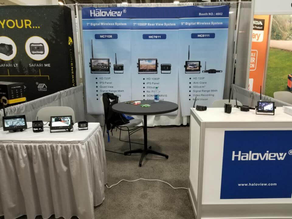 Haloview booth in RVX exhibition