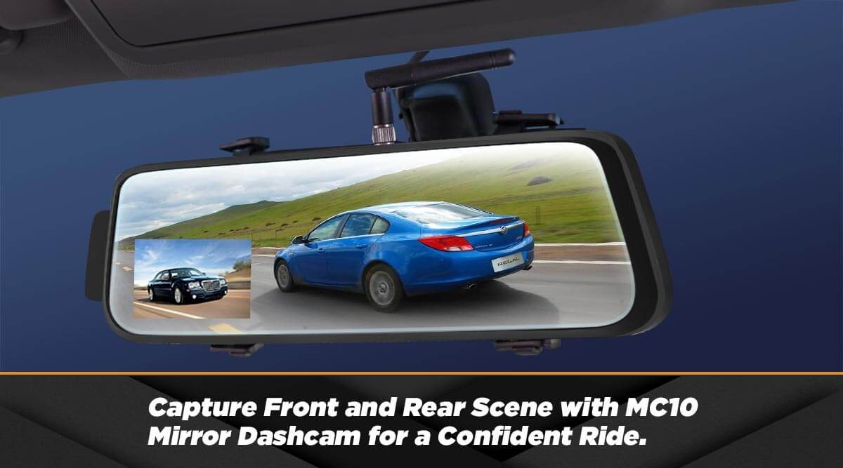 Using MC10 Mirror Dashcam for a Confident Ride.