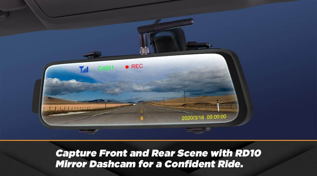 Using RD10 Mirror Dashcam for a Confident Ride.