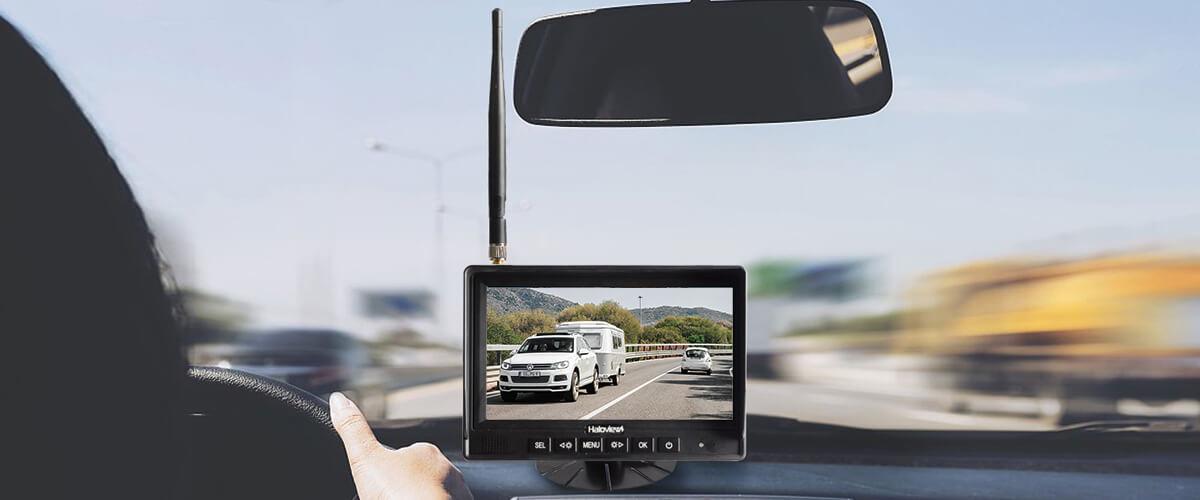 Haloview backup monitor display